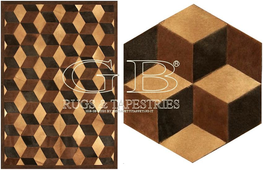 leather patchwork carpet