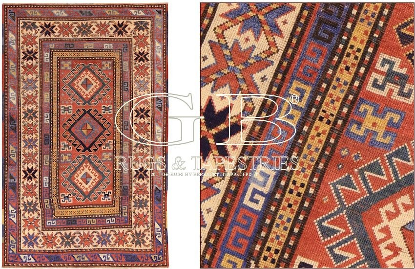 Antique Kazak Rug 213x135 141405346402