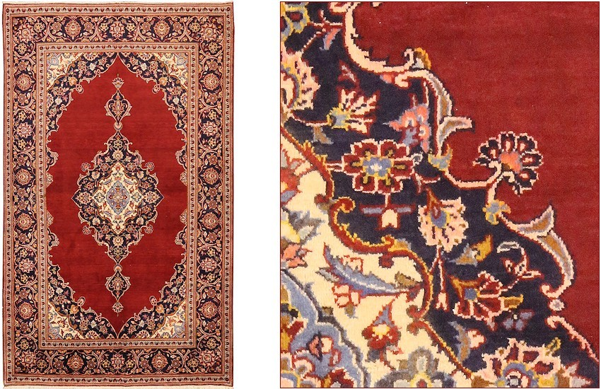 old kashan carpet