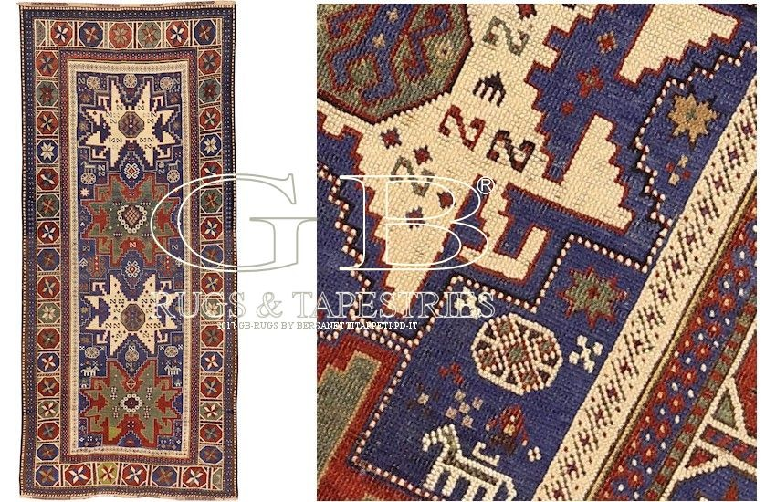 antique lesghi star rug