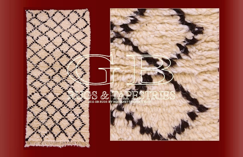 beni ourain berber teppich 165x82 141620362481. Black Bedroom Furniture Sets. Home Design Ideas