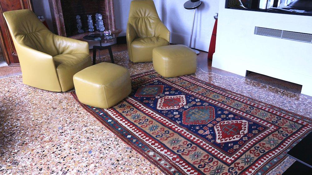 contract carpets,  Antique Kazak Borcialu
