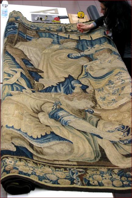 Restauro tapices antiguos