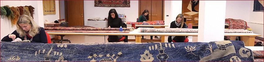 Restauro tappeti e arazzi - La struttura di gb-rugs