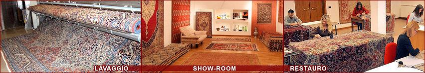 Referenze Sono davvero tante in quarant'anni di attività nei tappeti, per vendita lavaggio e restauro