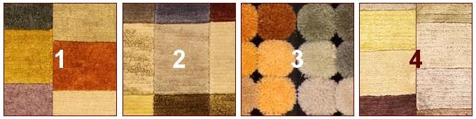 tappeti moderni su misura annodati a mano, lana per annodare tappeti