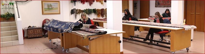 Carpets restoration since 1978 GB-Rugs Padua Ita