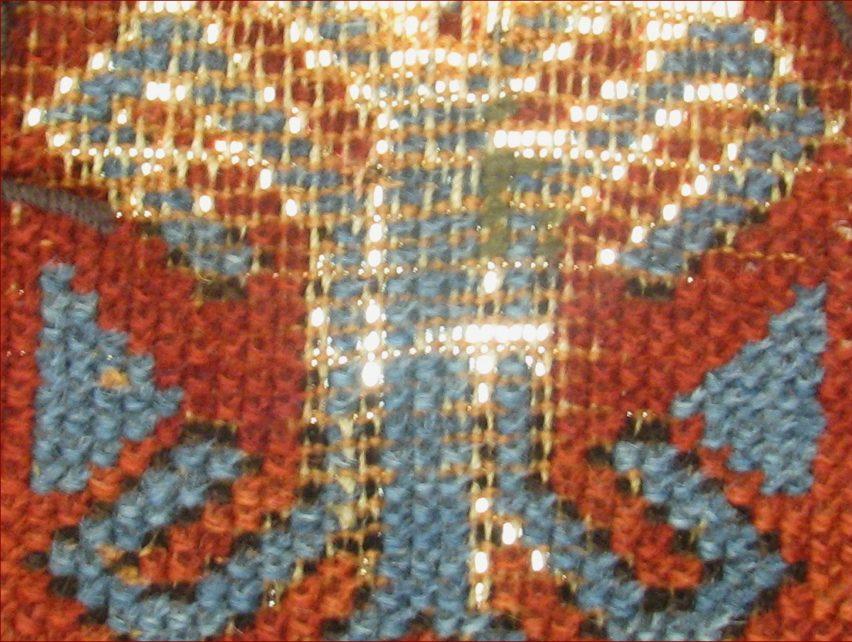 Restauro di un tappeto Shirvan antico 1