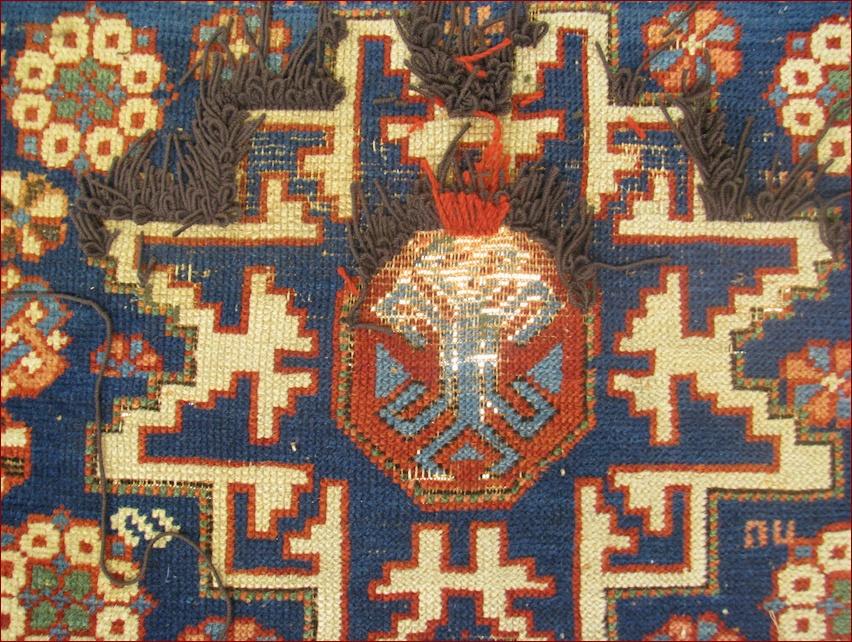 Restauro tappeto Shirvan antico 4