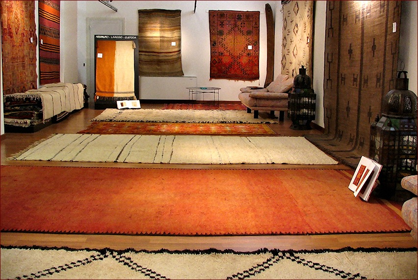 Tappeti berberi, showroom gb-rugs, Padova