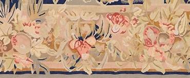 aubusson a foglie di acanto, particolare della cornice