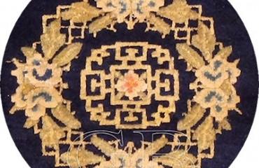 medaglione di Tappeto Ningxia antico