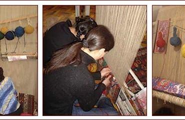 telaio tappeti persiani annodati a mano
