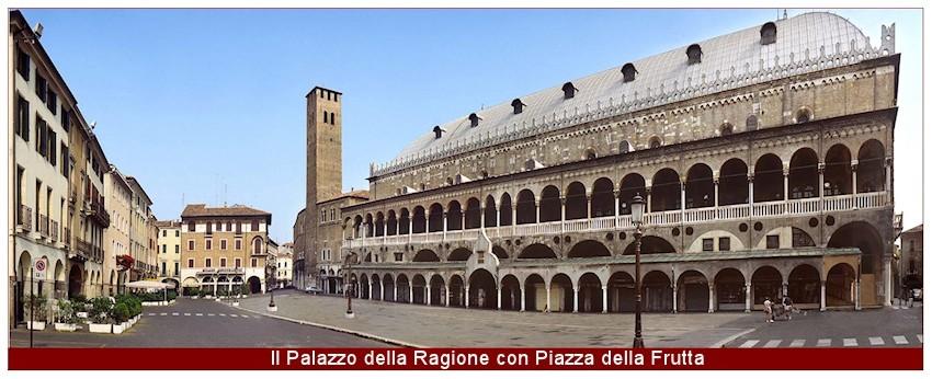 Palazzo della Ragione e Piazza della Frutta a Padova-850x346