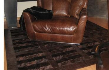 tappeto castoro quadri bordo cocco 450x600