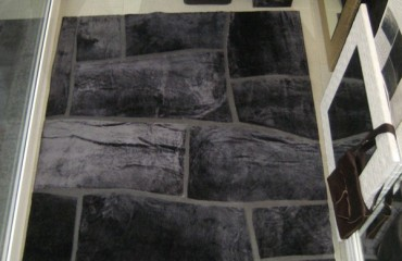 tappeto pelle ardesia 450x600
