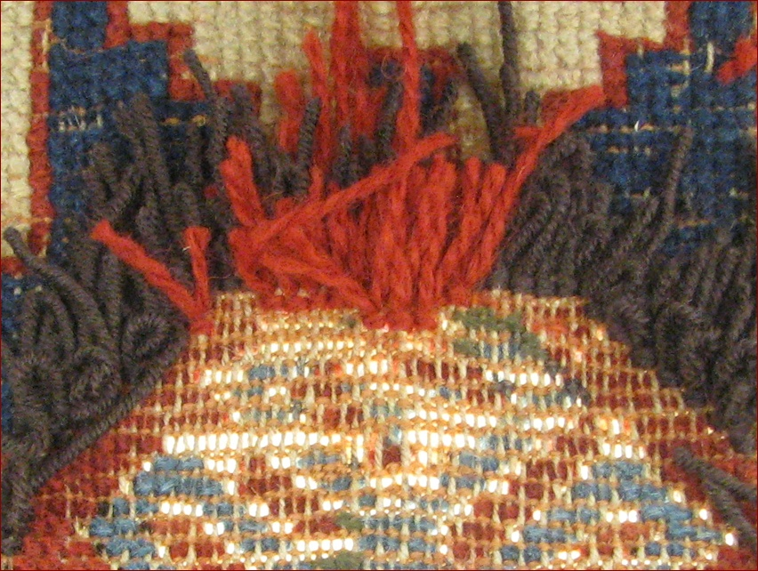 Restauro tappeto Shirvan antico 3