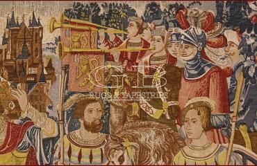 Arazzo Histoire fabuleuse des rois des Gaules 140917738495 3