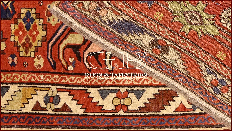Tapis kazak ancien 270 x 128 140000000547 gb rugs - Tapis caucasiens prix ...