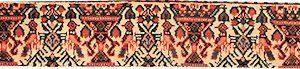 Tappeto Abadeh Zil-il-sultan, particolare