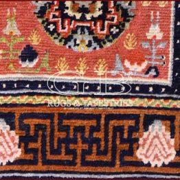 alfombra de silla tibetana