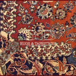 alfombra isfahan antiguo