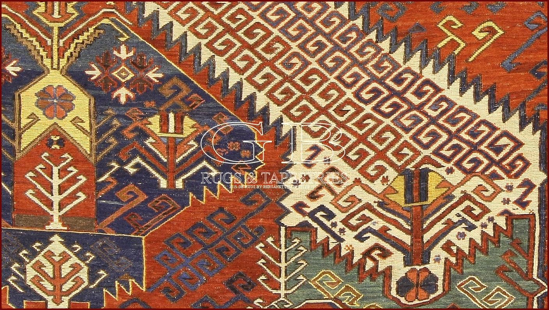 tapis sumak dragons 360x255 140517140746. Black Bedroom Furniture Sets. Home Design Ideas