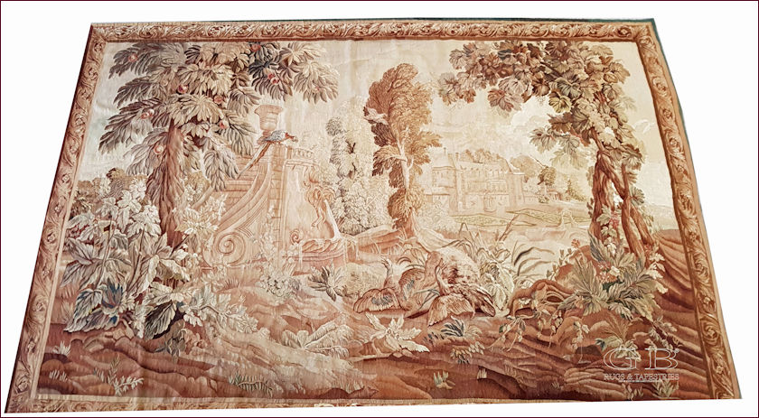 Wash Aubusson tapestries - Ancient Aubusson tapestry Washed after hundreds of years.