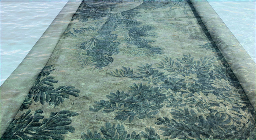 Washing tapestries and antique fabrics