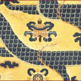 alter tibetischer drachenteppich